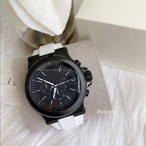 Michael Kors Dylan White Silicone Watch